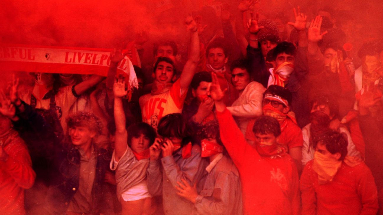 Liverpool fans in Rome for the Champions League semifinal.