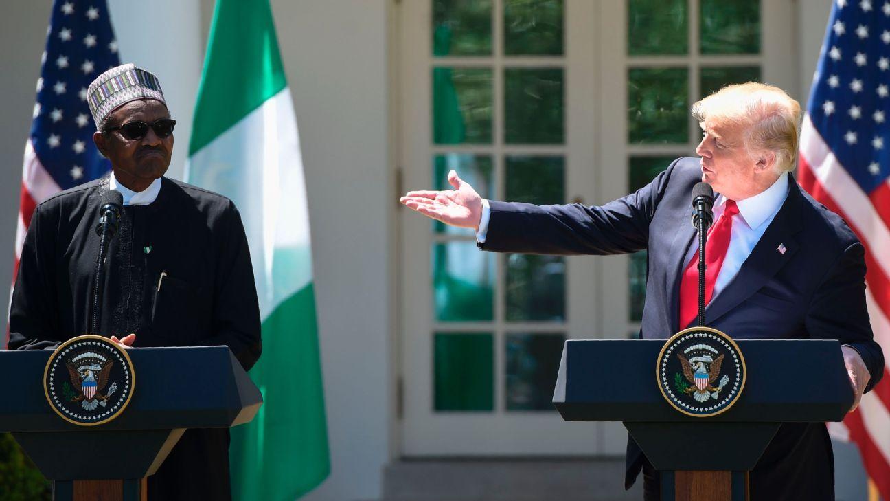 U.S. President Donald Trump met with Nigeria counterpart Muhammadu Buhari.