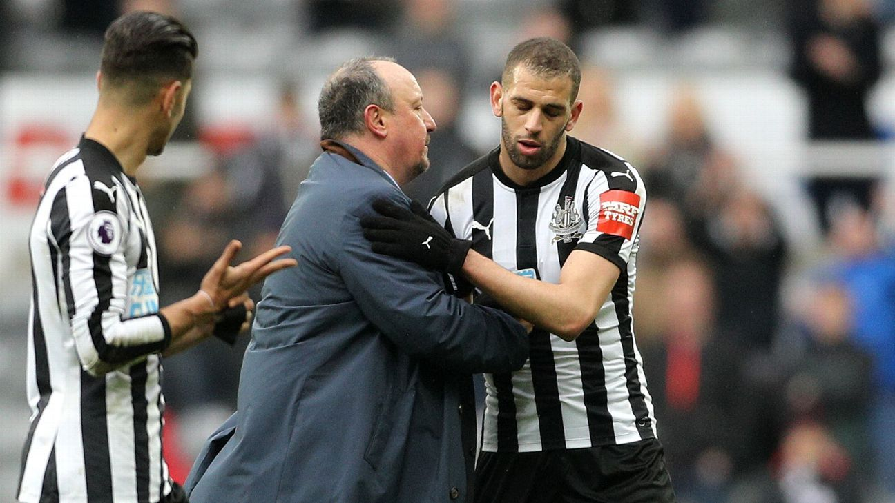 Islam Slimani ends his spell with Newcastle without scoring a goal.
