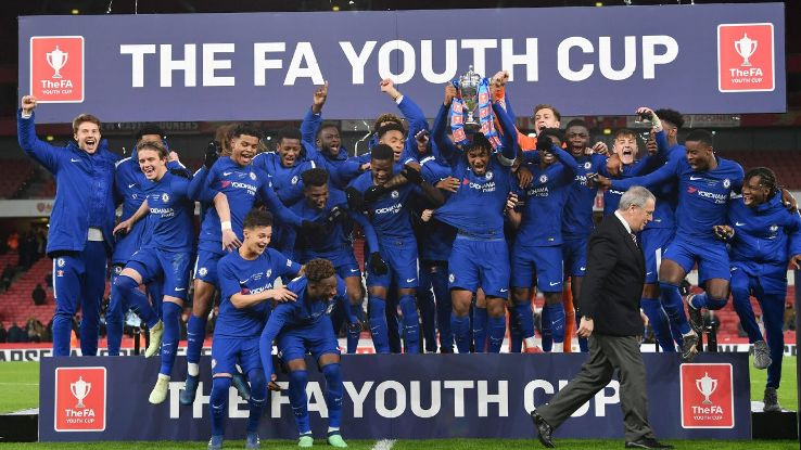 Chelsea lifted the FA Youth Cup for a fifth time in a row on Monday night.