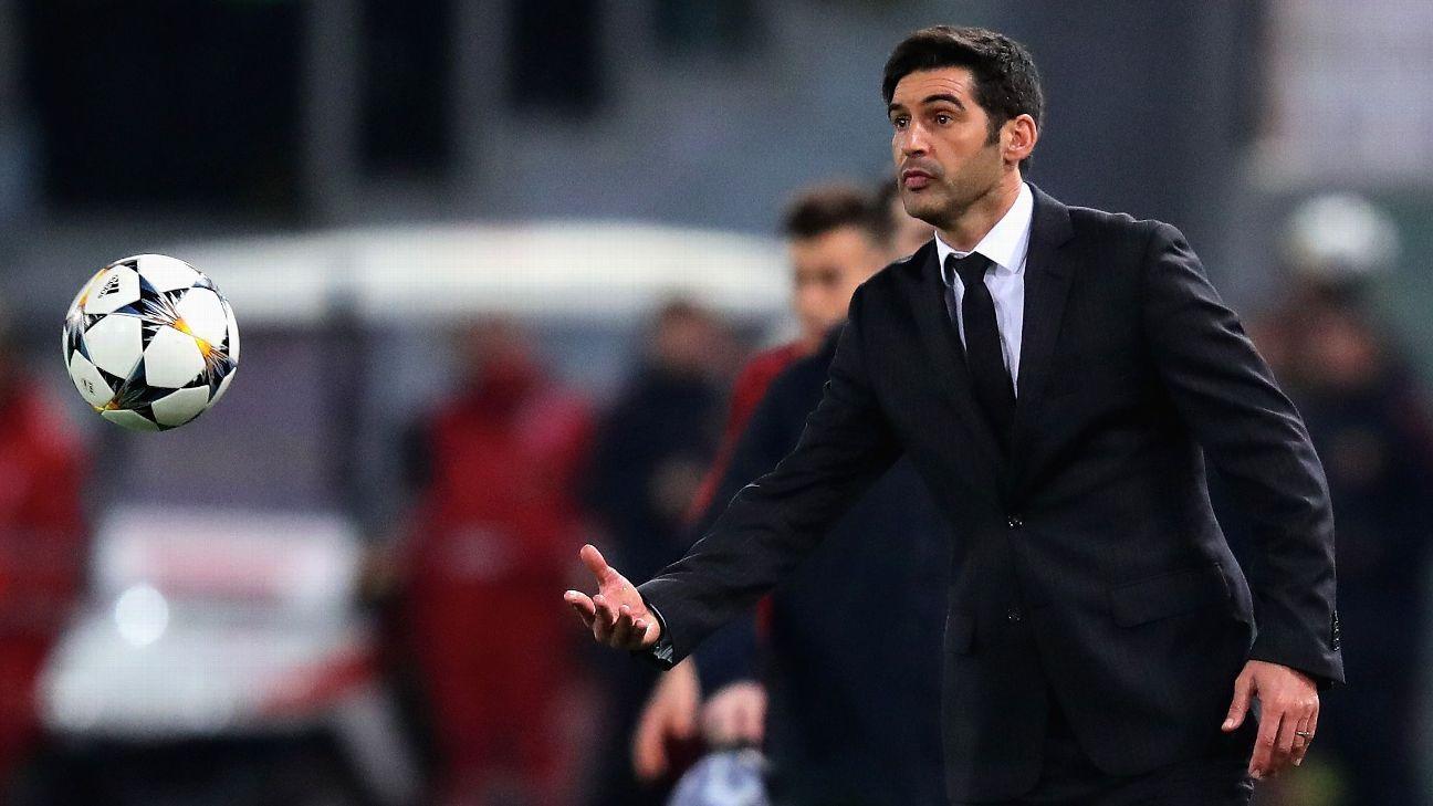 Shakhtar Donetsk coach Paulo Fonseca