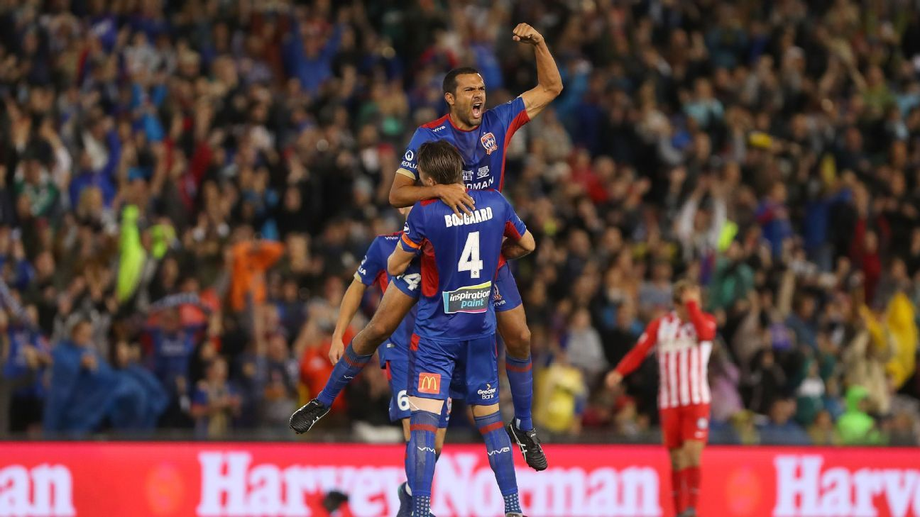 Newcastle Jets celebrate