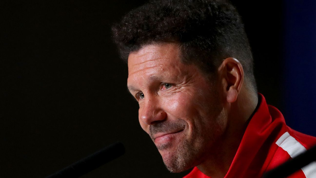 Atletico Madrid coach Diego Simeone