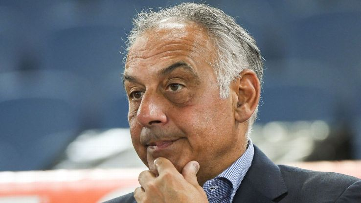 Roma president James Pallotta was critical of the officiating in the Champions League.