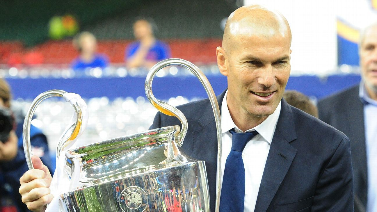 Zinedine Zidane is looking to secure a third successive Champions League trophy.