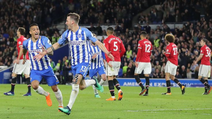 Pascal Gross' fine season continued with the winner against Manchester United.