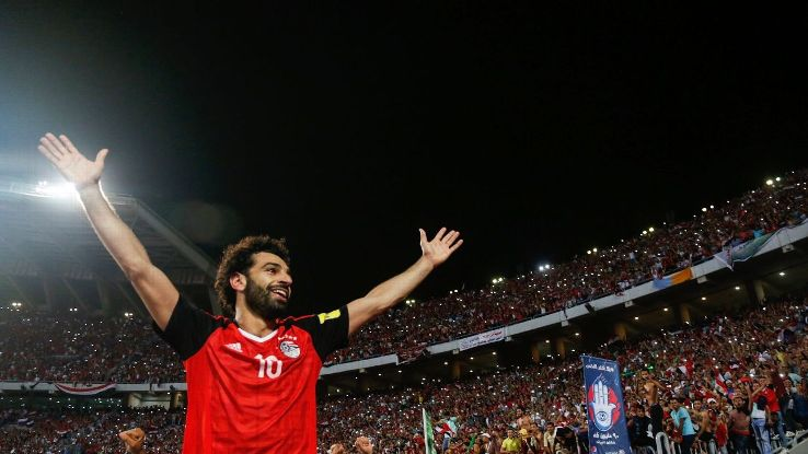Mohamed Salah had the hopes of a nation on his shoulders in Russia.