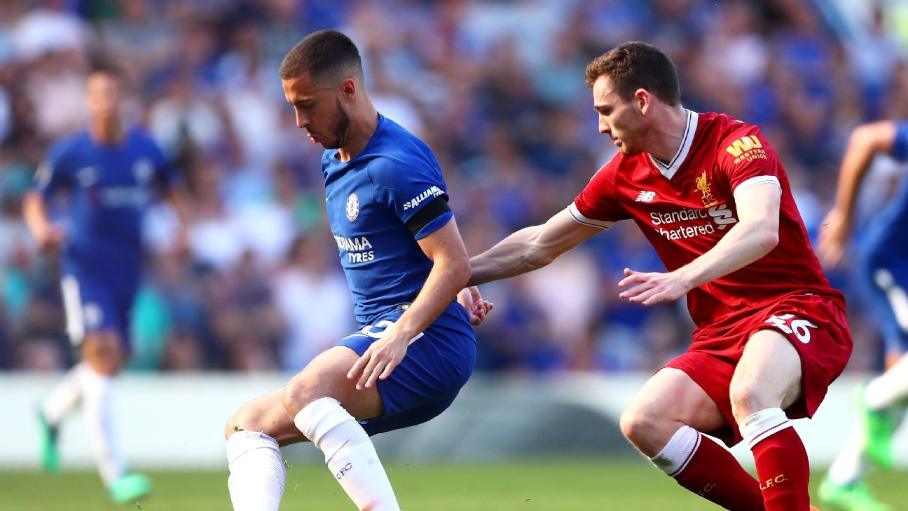 Andrew Robertson struggled with Eden Hazard and faces an even tougher task later this month with Cristiano Ronaldo.