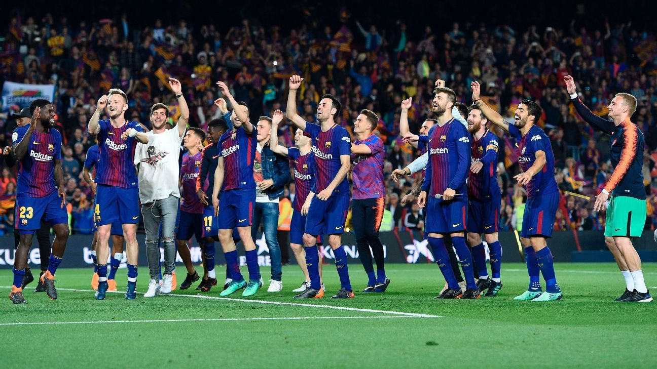 Barcelona's victory leaves them three games from a historic unbeaten La Liga campaign.