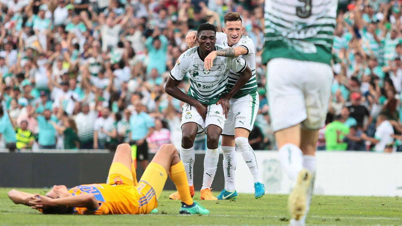 Santos Laguna stormed back on Sunday and denied Tigres a chance at another Liga MX championship.