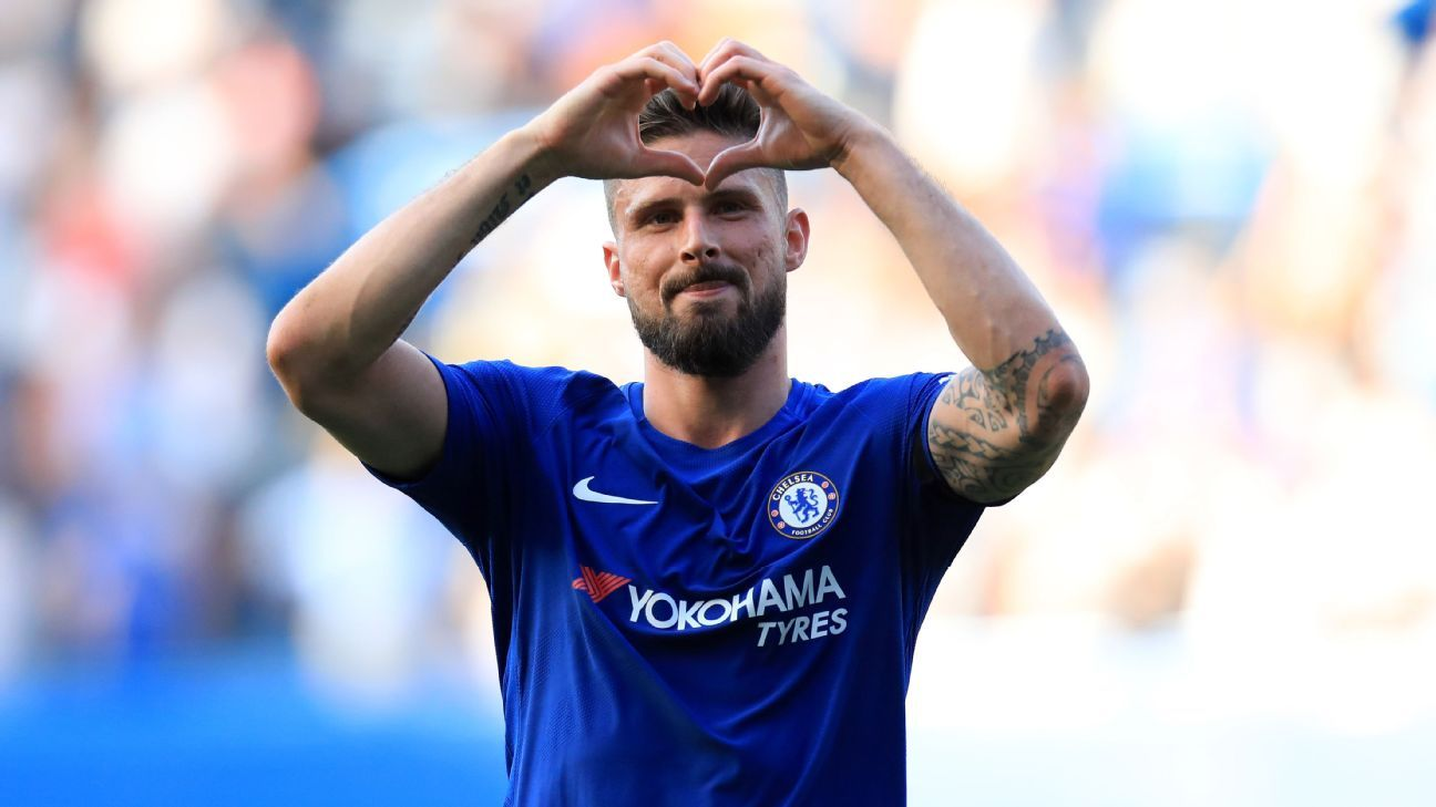 Olivier Giroud joined Chelsea from Arsenal in January.