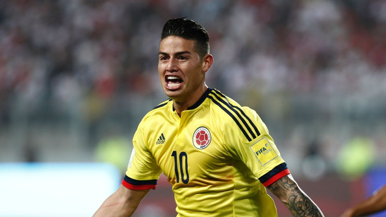 James Rodriguez's success in 2014 carried Colombia to the quarterfinals. Can he do it again in 2018?