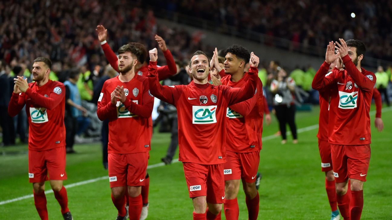 Les Herbiers are just the fourth team from the third division or lower to reach the Coupe de France final.