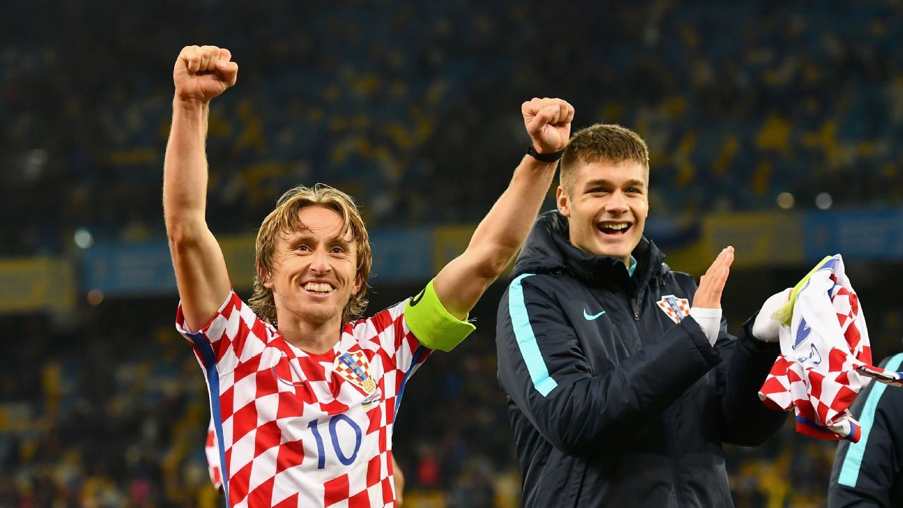 Croatia's Luka Modric is on a shortlist of the best midfielders in the world.