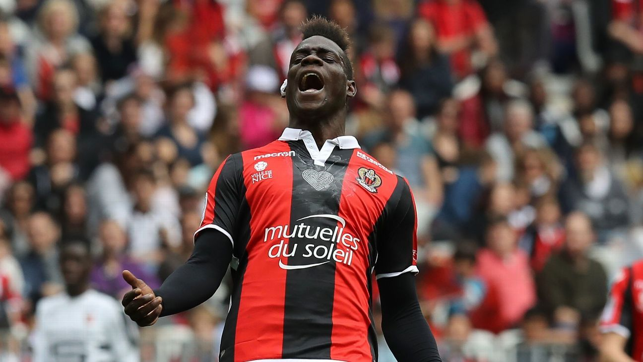 Mario Balotelli is out of contract at Nice this summer and could move on.
