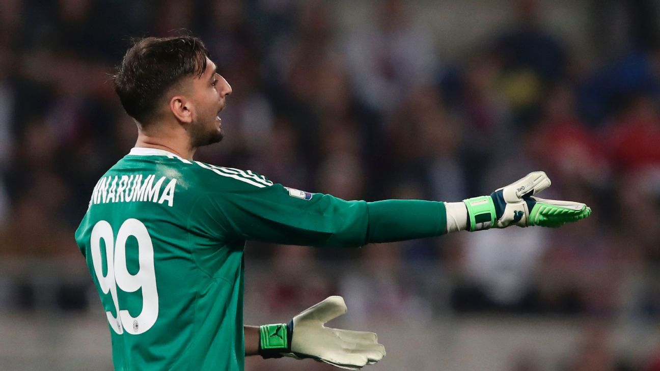 Gianluigi Donnarumma's errors  proved costly in the Coppa Italia final.