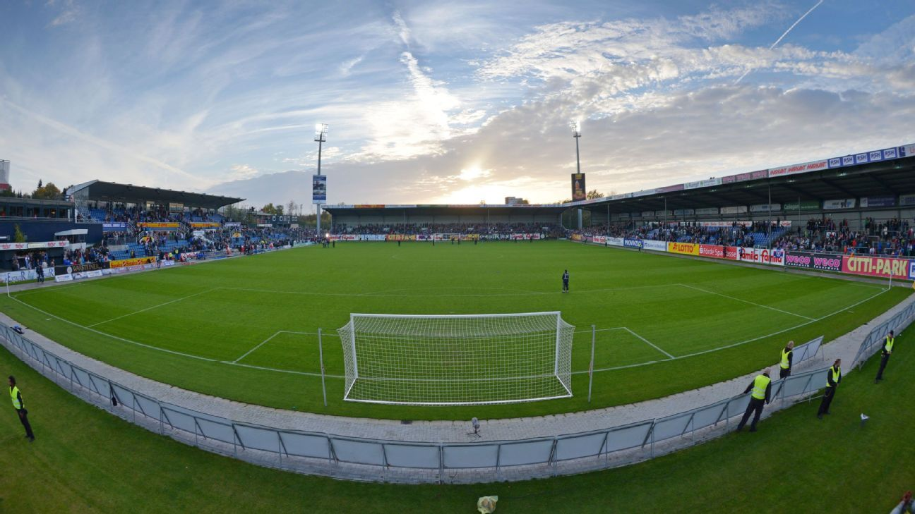 The Holstein-Stadion in Kiel, Germany.