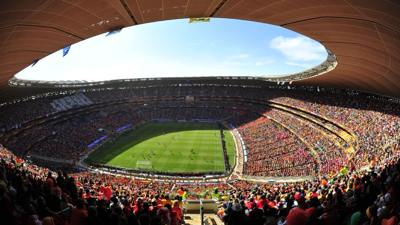 The FNB Stadium in Johannesburg.
