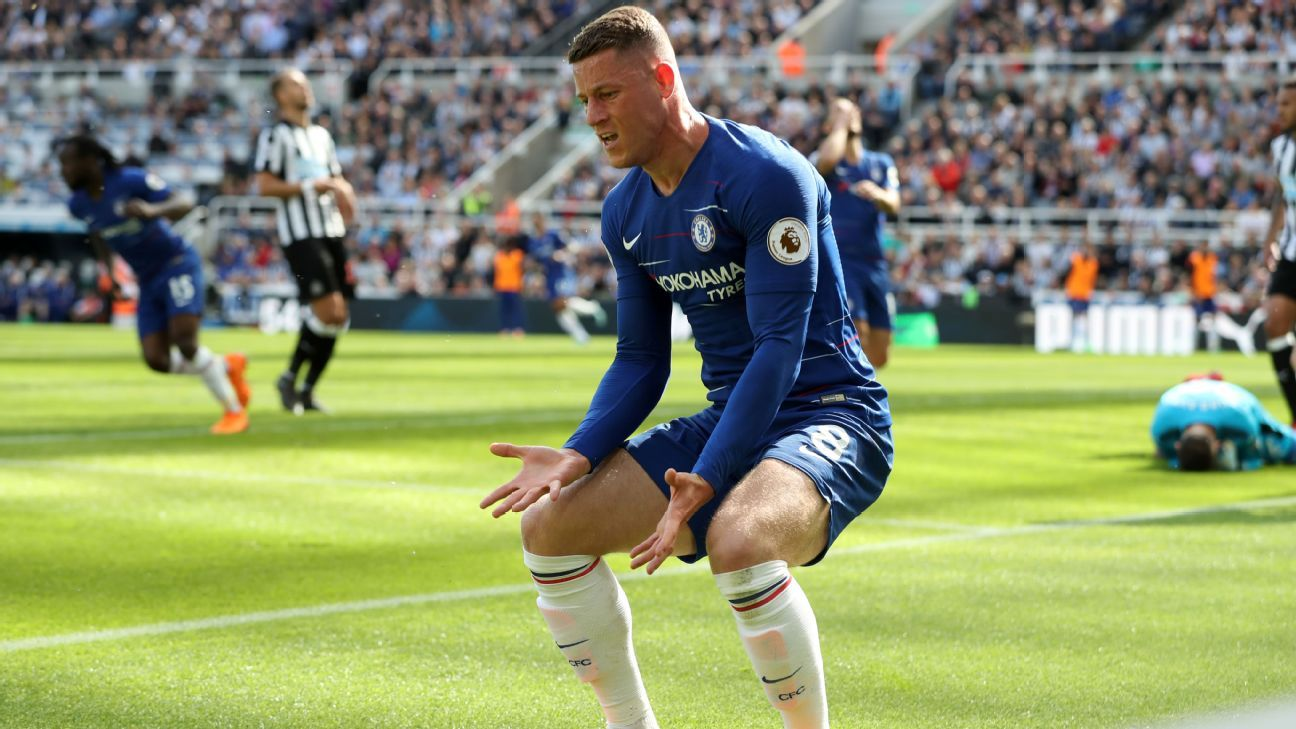 Ross Barkley is a frustrated figure during the defeat at Newcastle.