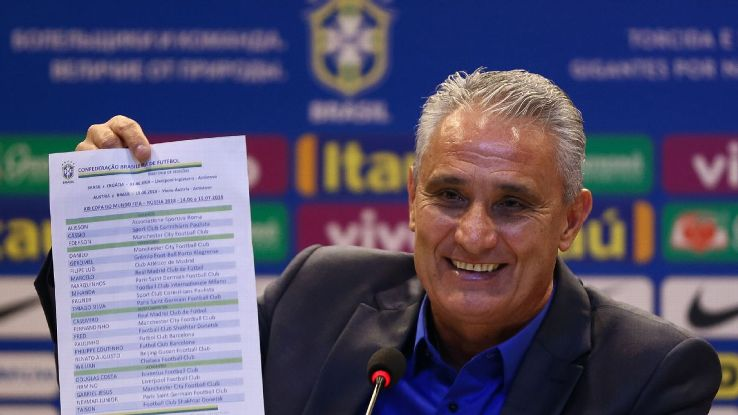 Tite isn't messing around with his Brazil squad, naming the 23 players nearly a month early.