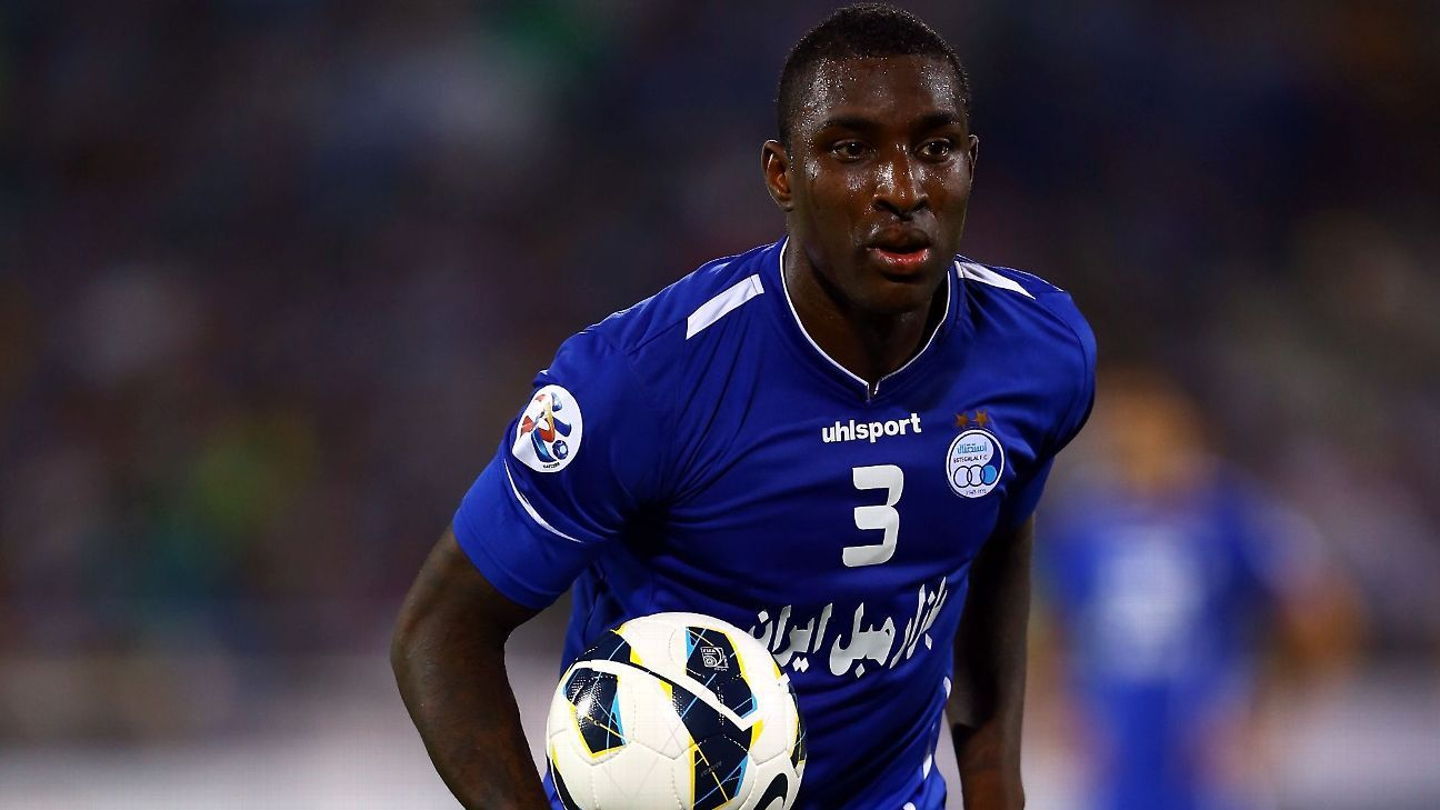 Jlloyd Samuel pictured playing for Iranian club Esteghlal.