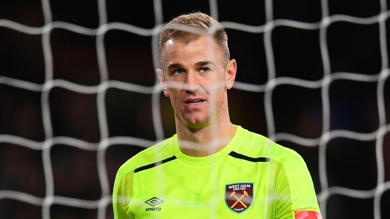Joe Hart spent last season on loan at West Ham.