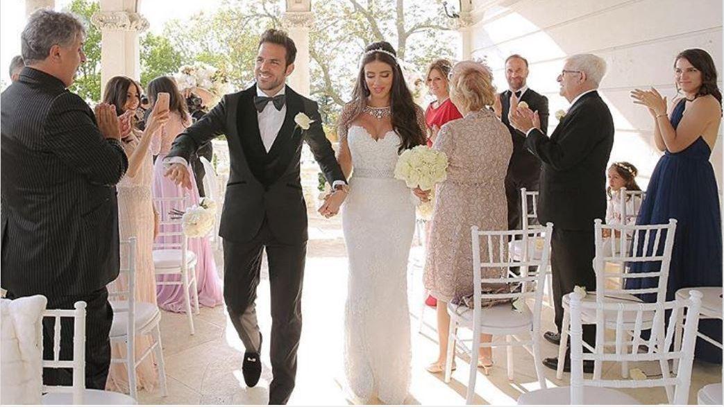 Chelsea's Cesc Fabregas marries Daniella Semaan