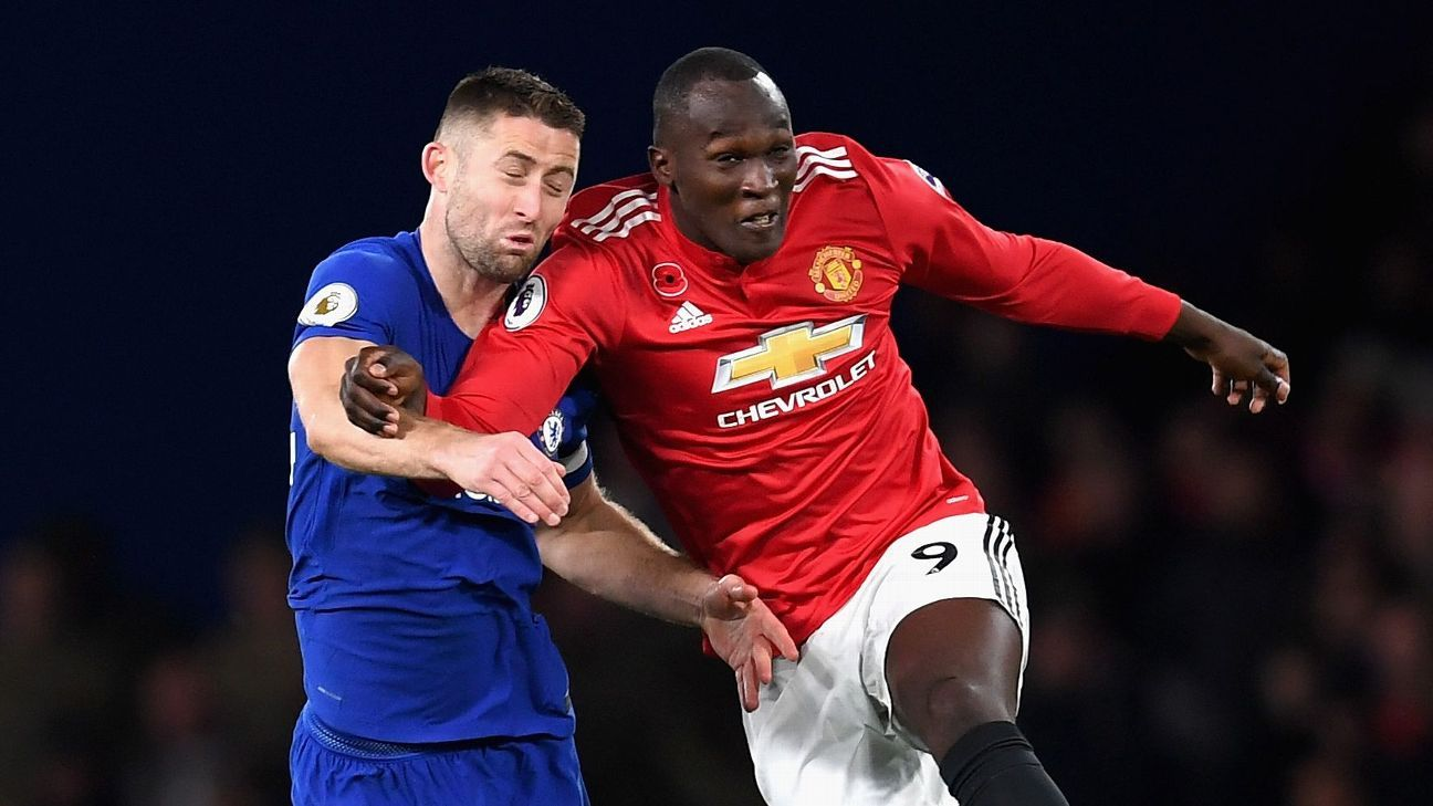Gary Cahill and Romelu Lukaku were briefly teammates at Chelsea
