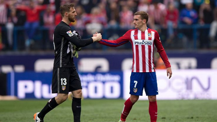 Antoine Griezmann and Jan Oblak