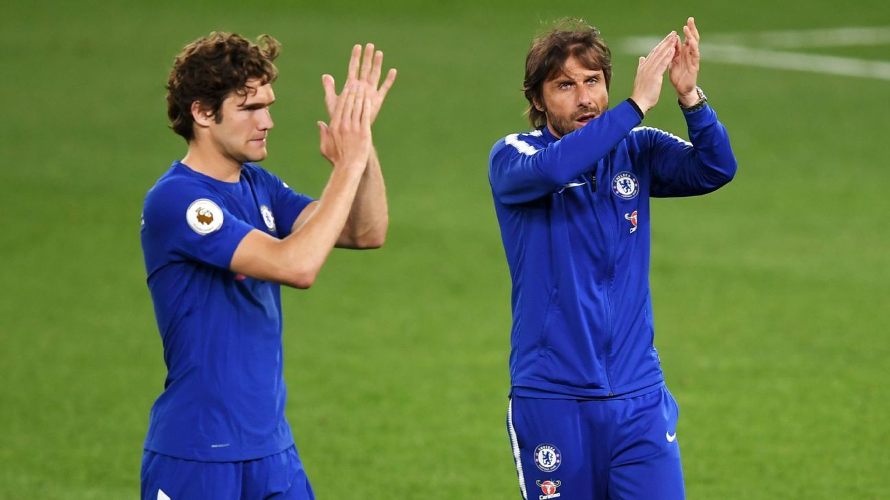 Marcos Alonso says speculation about Antonio Conte is not behind Chelsea's poor form.