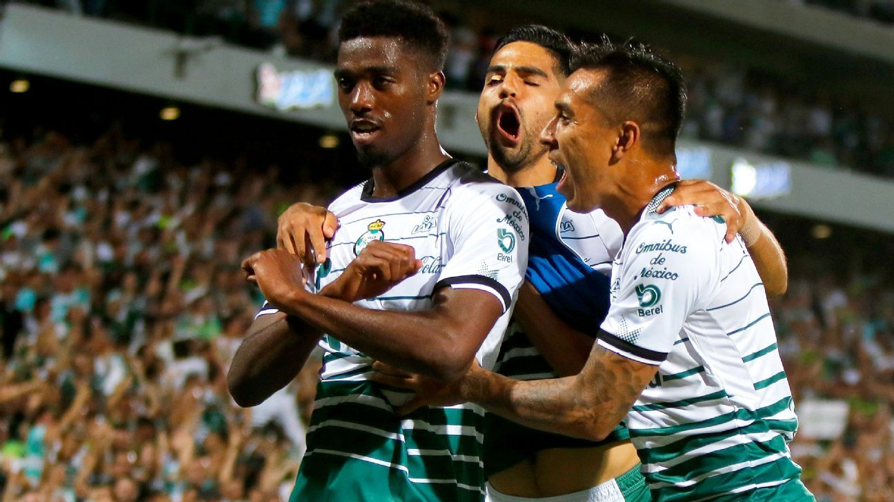 Djaniny's strike in the 71st minute brought Santos Laguna level and eased some worries.