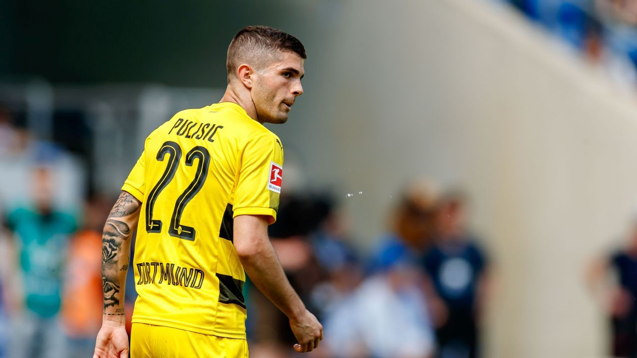 Christian Pulisic has scored nine goals in the Bundesliga in his first three seasons.