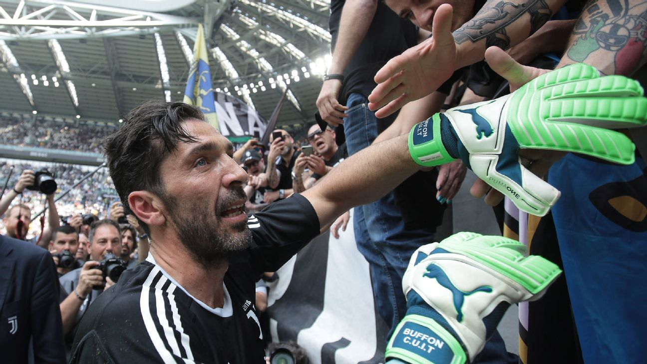 Gianluigi Buffon played his final match for Juventus, against Verona.