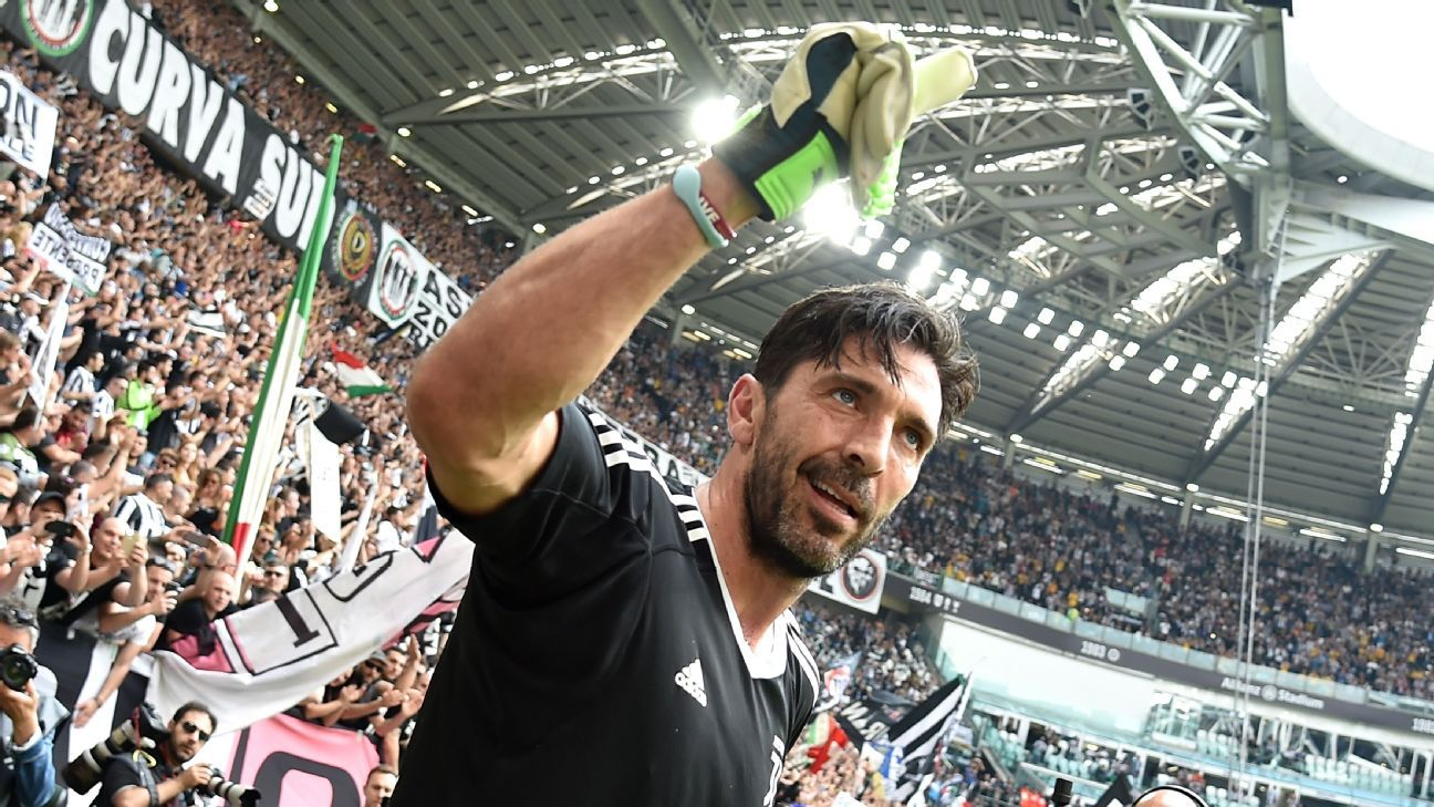 Buffon is leaving Juventus after 17 years with the club.