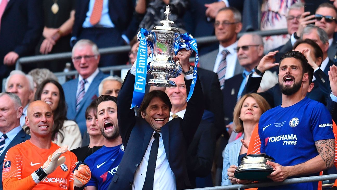 Conte's victory in the FA Cup should mean he's able to continue at Chelsea but he's clearly on his way out.