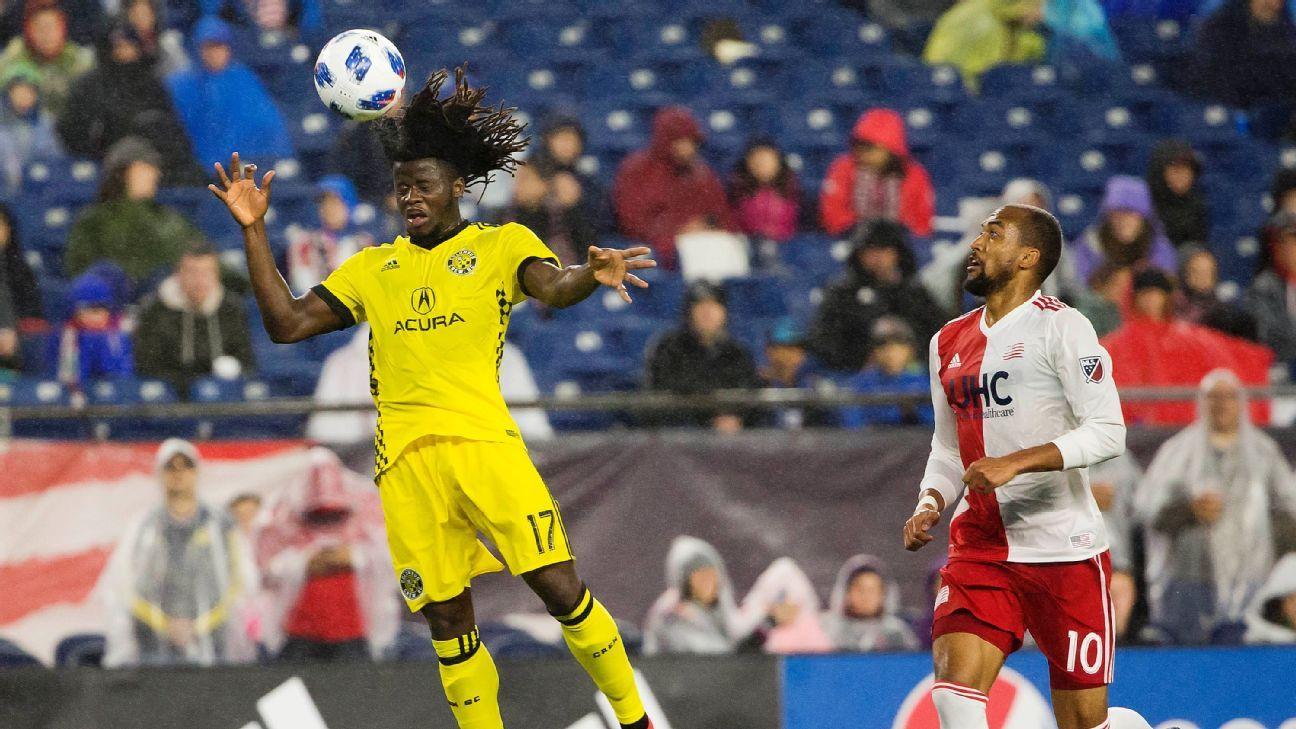 Columbus Crew's Lalas Abubakar hits late winner against New England Revolution
