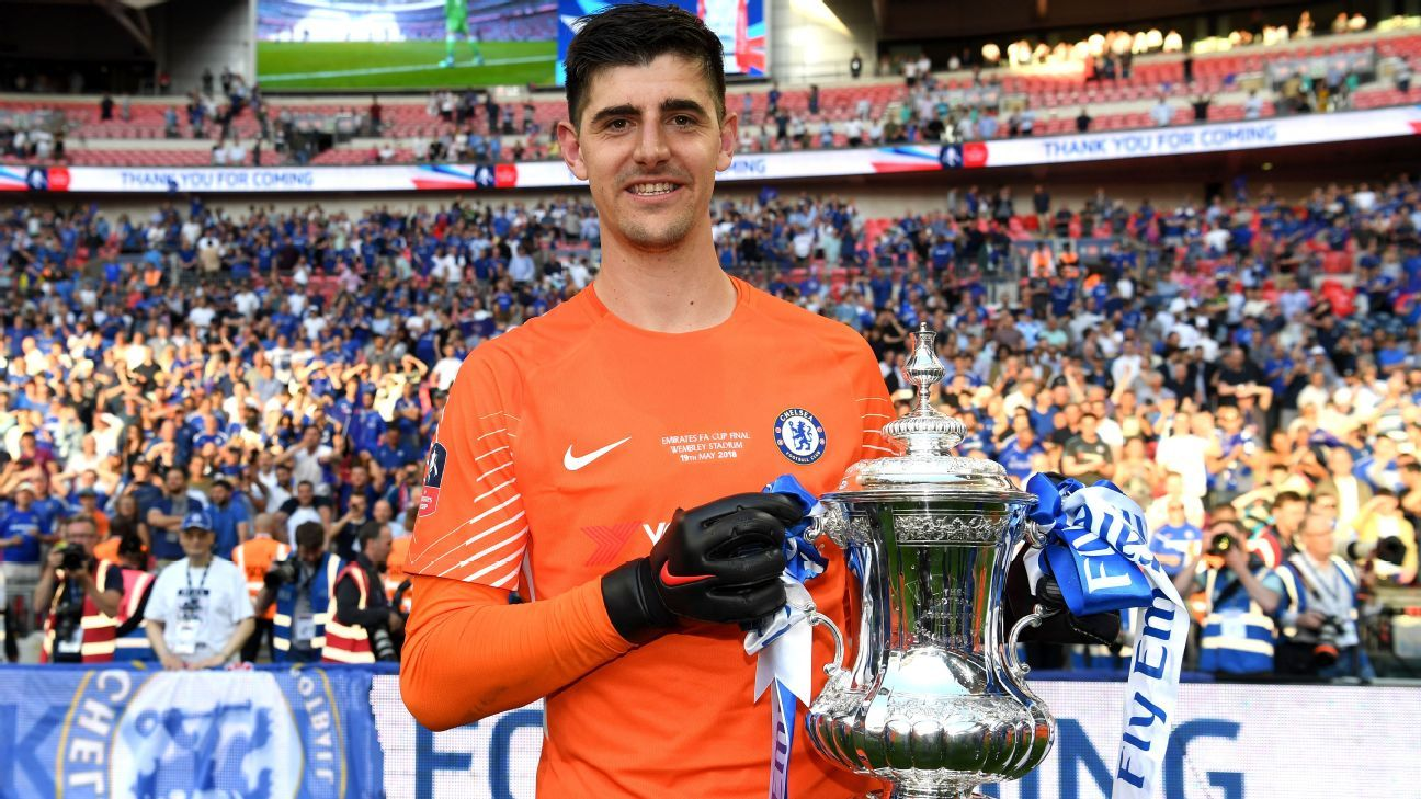 Thibaut Courtois kept a clean sheet at Chelsea beat Manchester United in the FA Cup final