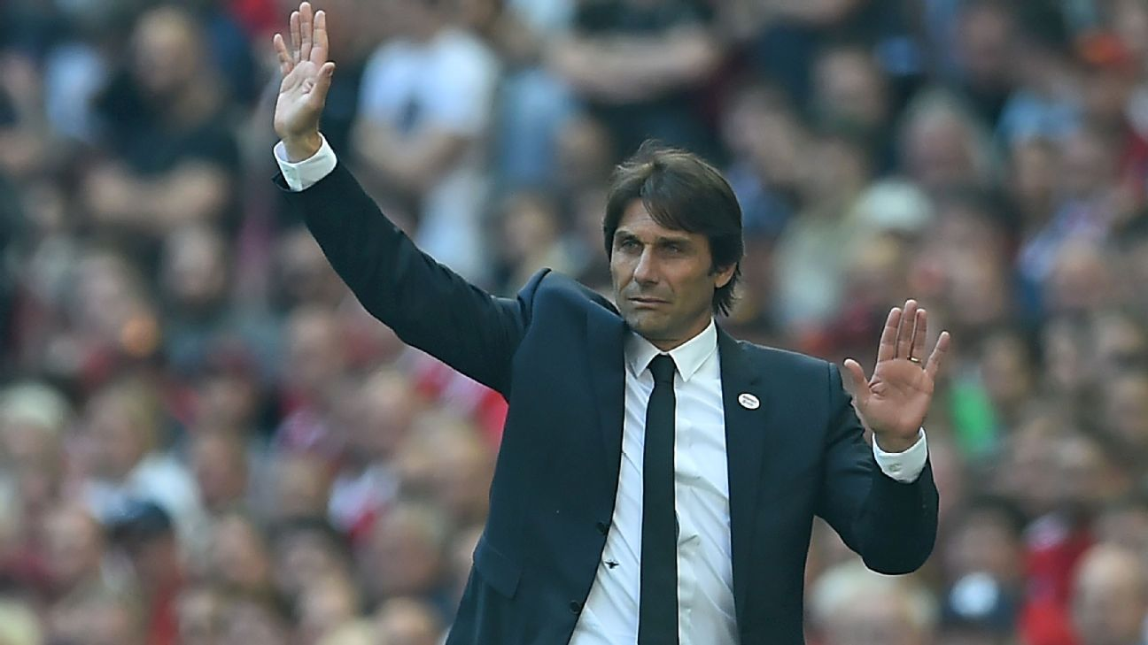 Antonio Conte won the Premier League title in 2016-17 and the FA Cup the following season.