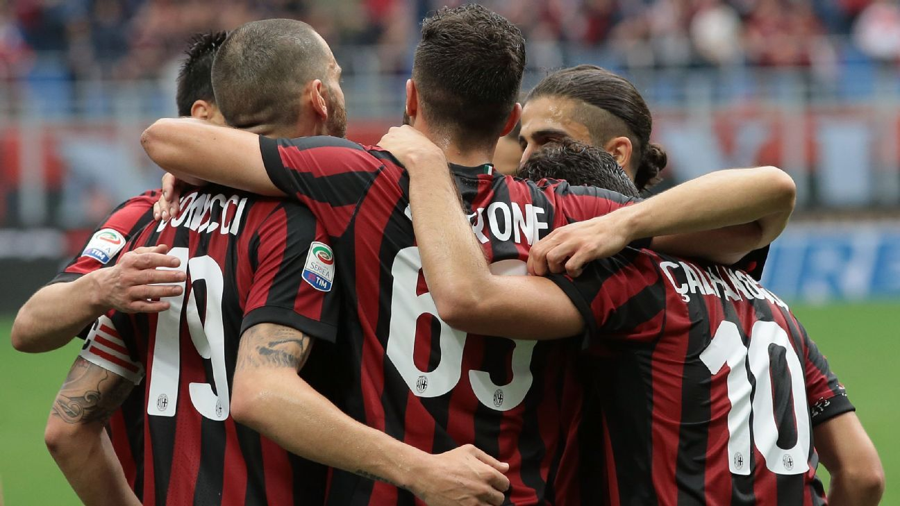 AC Milan booked their place in the Europa League group stage after beating Fiorentina.