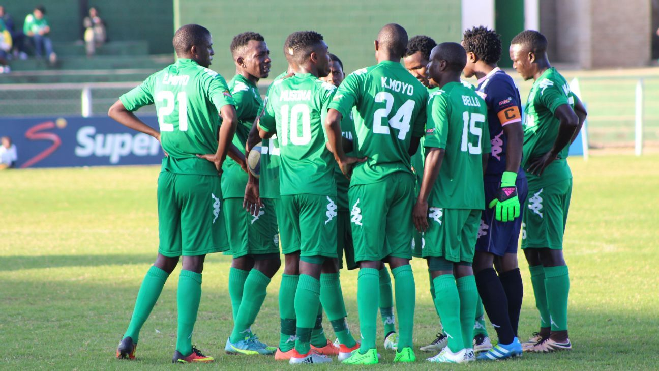 FC Platinum players discuss match strategy.