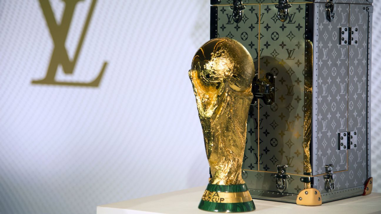 Louis Vuitton has produced a special case to transport the World Cup trophy