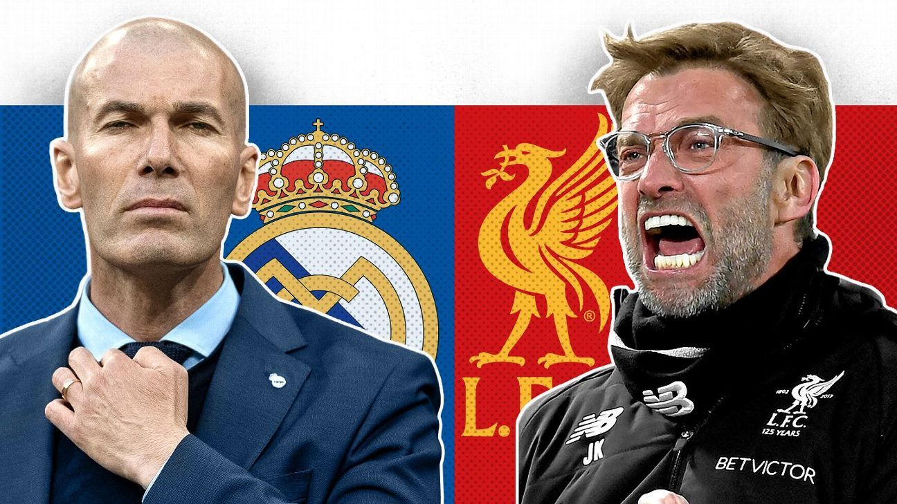 Zinedine Zidane and Jurgen Klopp face-off in the battle of the minds in the UCL final.