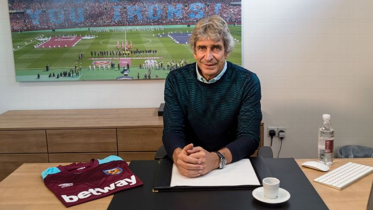 West Ham United manager Manuel Pellegrini