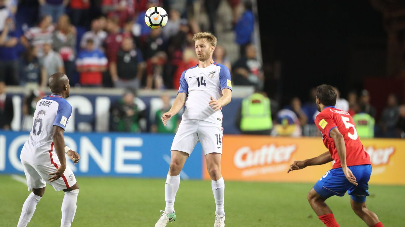 Tim Ream, center, admitted his performance in a 2-0 loss to Costa Rica was one of the reasons he didn't start against T&T.