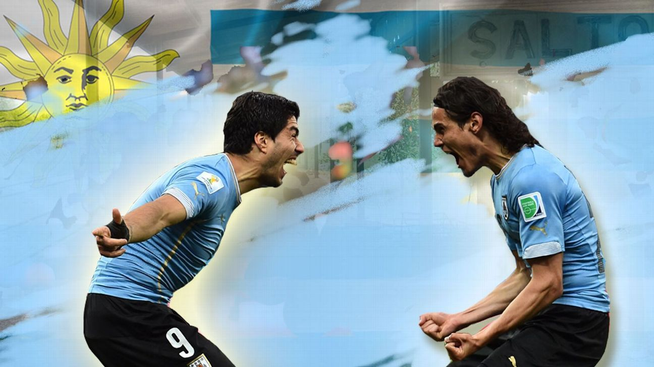 Edinson Cavani and Luis Suarez hold the hopes of a nation.
