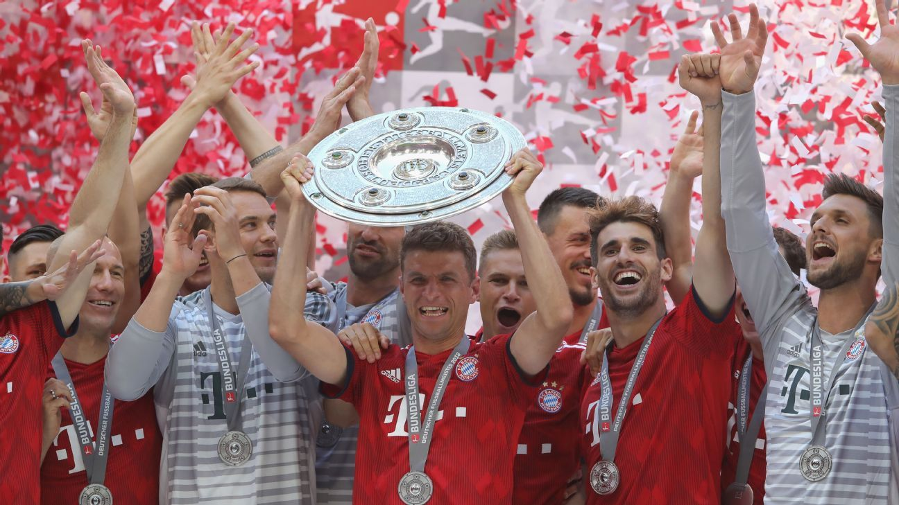 Bayern had a rocky start to the season but rallied to run away with the league title.