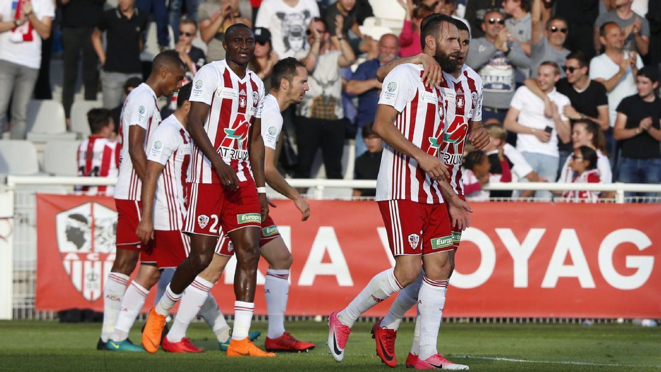 Ajaccio celeb Ligue 2 180520