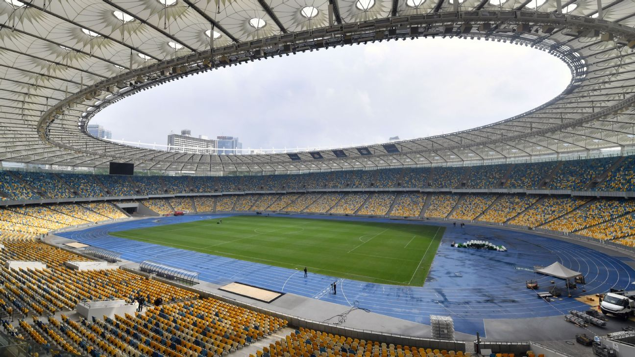 The Olimpiyskiy Stadium in Kiev, Ukraine.