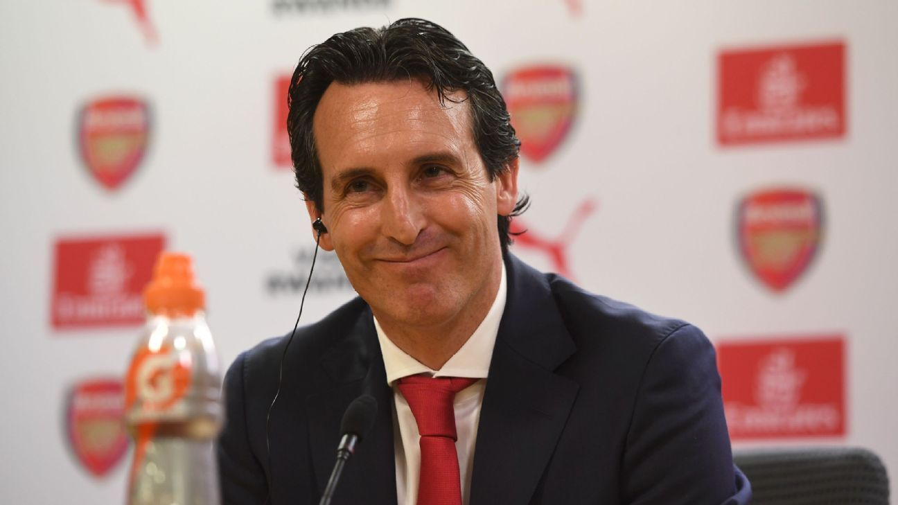 Emery was confident, composed and positive in his first news conference as Arsenal manager.