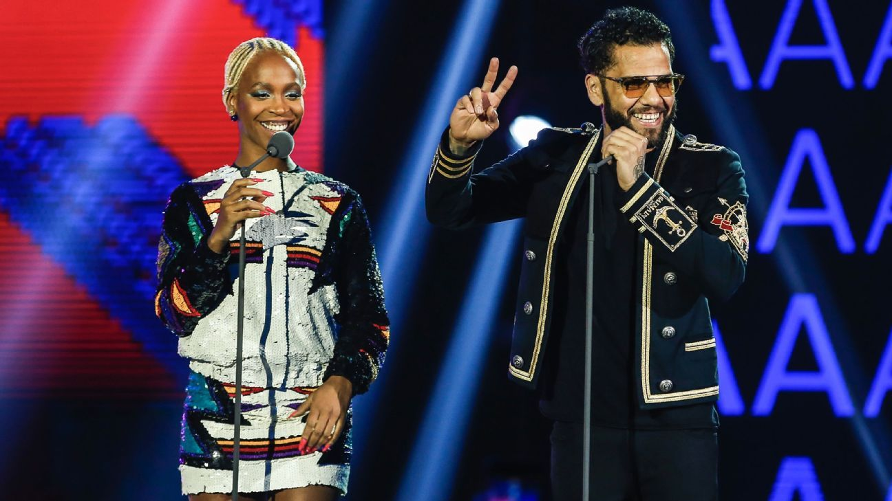 Karol Conka and Dani Alves at MTV MIAW 2018